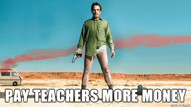 The moral of Breaking Bad.