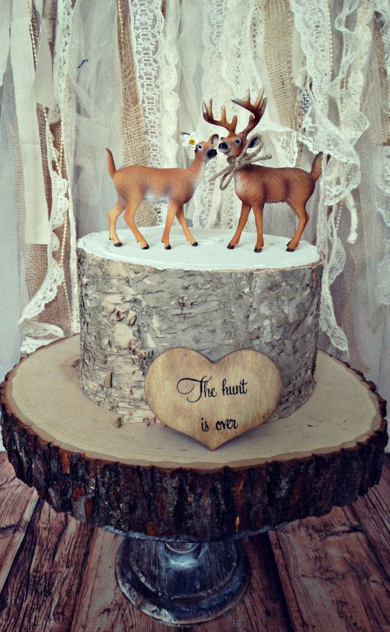deerhunterbridegroomweddingcake by MorganTheCreator on Etsy