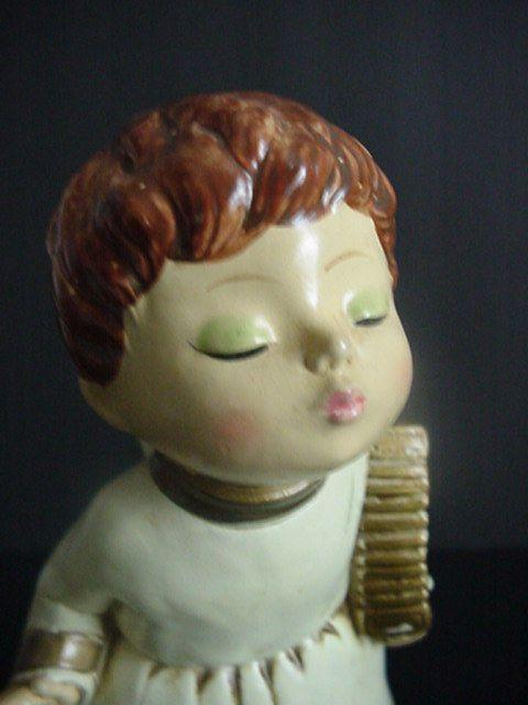 Vintage Kissing Angel Music Box Figure Made Japan
