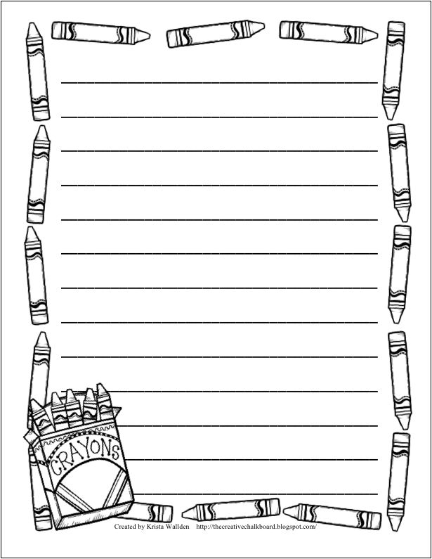 Custom paper writing with borders template