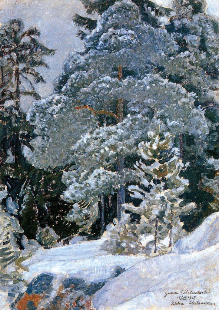 Pekka Halonen, Talvinen Metsä, 1915, from The Life and Art of Pekka Halonen - http://www.alternativefinland.com/art-pekka-halonen/