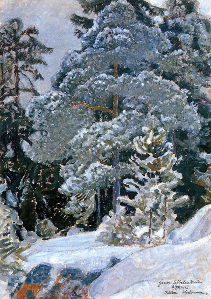Pekka Halonen, Talvinen Metsä, 1915, from The Life and Art of Pekka Halonen - http://www.alternativefinland.com/art-pekka-halonen/