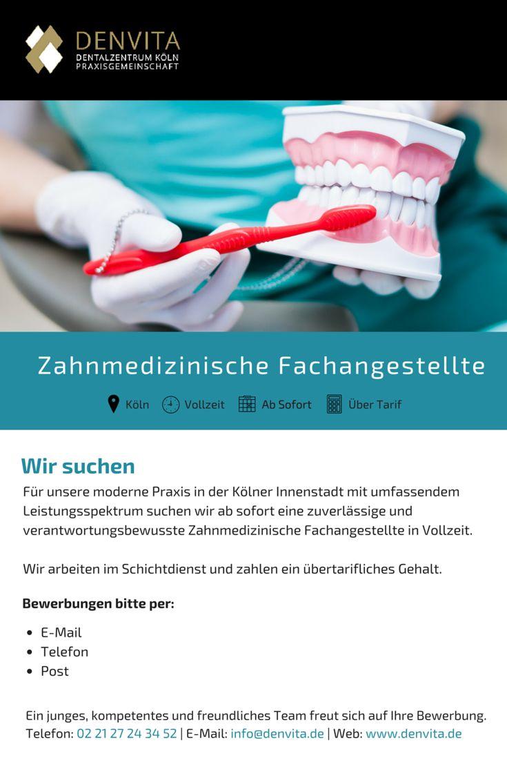 +++++ STELLENANGEBOT +++++ Wir suchen Zahnmedizinische Fachangestellte für unsere moderne Praxis in Köln. Bewerber-/innen bitte melden. Alle anderen: sehr gern weiterpinnen :-) Danke! #Stellenangebot #Stelle #Job #ZFA #Zahnarzt #Köln #Kollegen