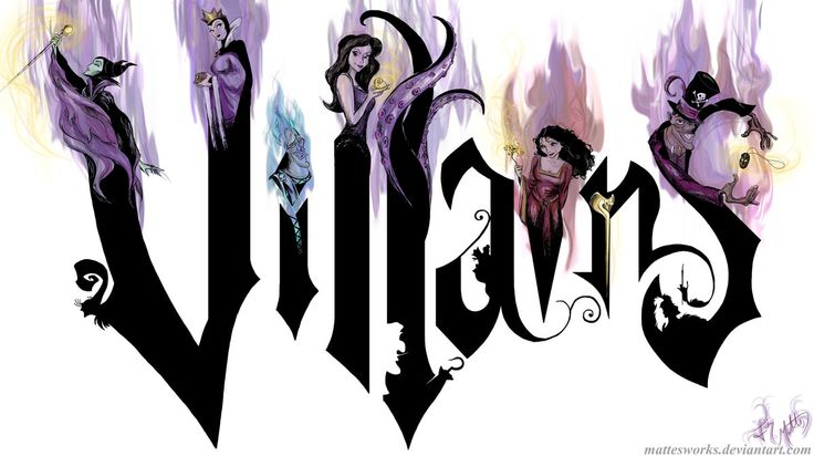 Drawings of disney villians | Disney Villains by MattesWorks