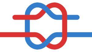 TEXTO - Square knot or reef knot na wikipédia, nó direito (em PT), nudo de rizo ou nudo cuadrado (em ESP)
