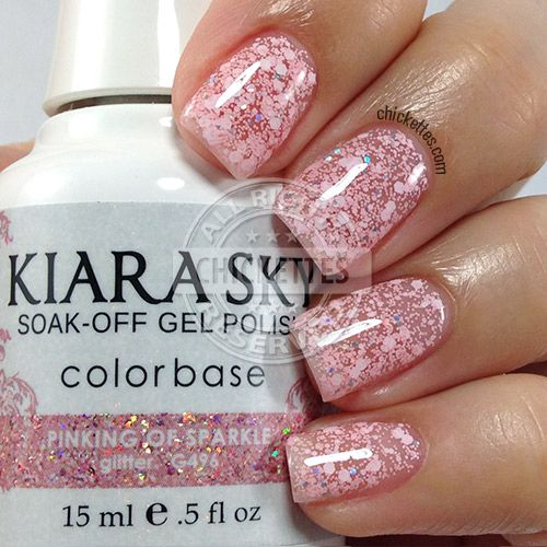 Kiara Sky Pinking Of Sparkle Swatch By Chickettes Com