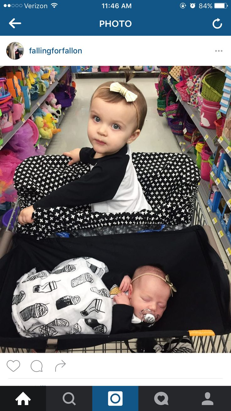 Shopping with newborn and toddler --shopping cart hammock