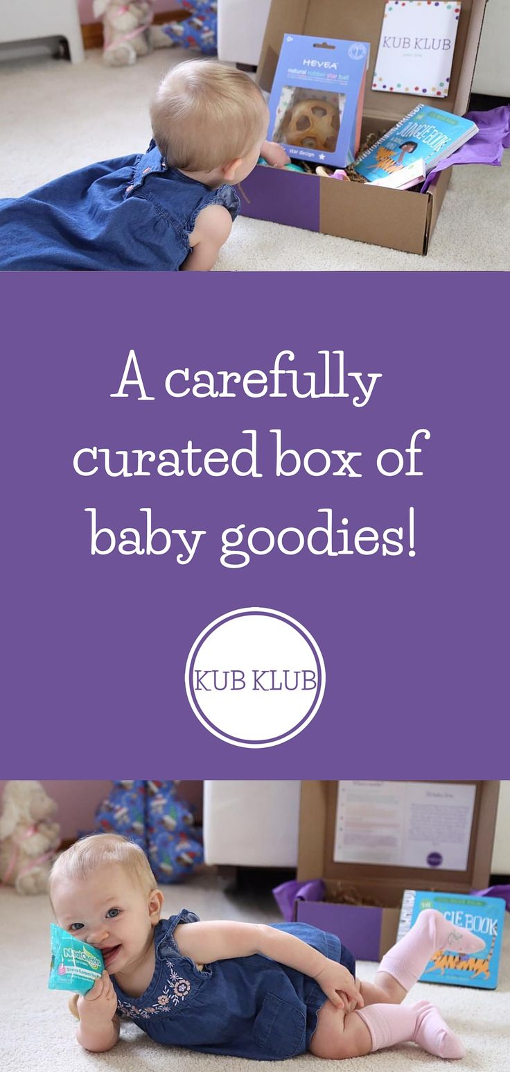 Kub Klub is a monthly surprise of baby toys, gear, and goodies! Subscribe to Kub Klub for your kub - or give a Kub Klub box as the perfect baby shower gift. Use code PINTEREST10 for $10 off your first box!