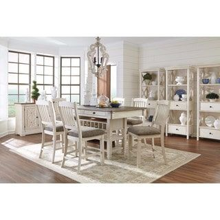 Shop for Signature Design by Ashley Bolanburg Two-tone Upholstered Dining Set. Get free delivery at Overstock.com - Your Online Furniture Shop! Get 5% in rewards with Club O! - 20943382