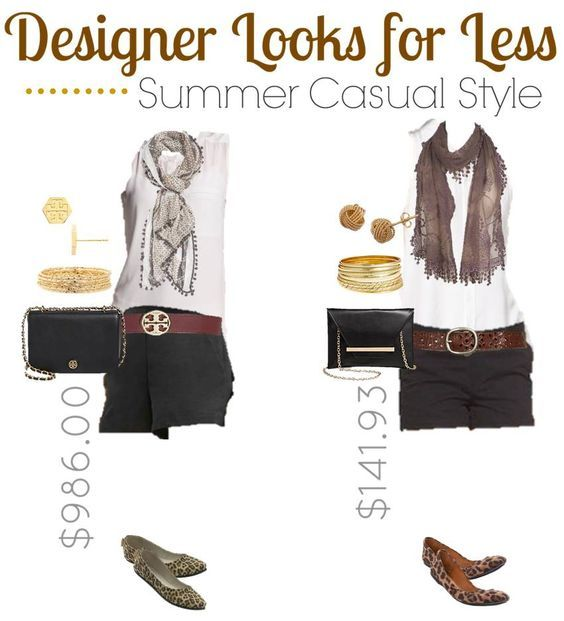 Get a classy black & brown casual summer teen fashion designer look for less! A few swaps can save you hundreds of dollars yet still make you look classy!