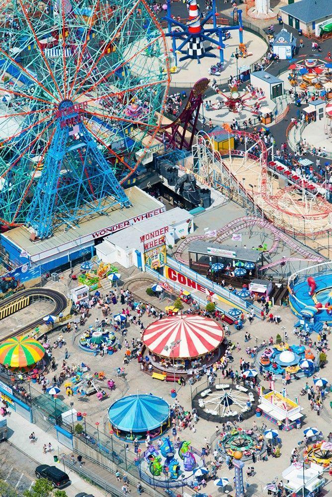 Coney Island New York - ride the famed ferris wheel, the Wonder Wheel.