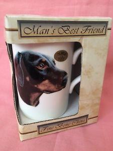 Leonardo Collection Doberman Pinscher Dog Bone China Mug Mans Best Friend     eBay