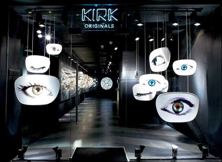 Daily Update Interior House Design: Eye-Catching Design for Kirk Originals London Flagship Optical Store.