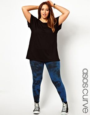 ASOS CURVE Legging With Knee Peace Sign  $31.54
