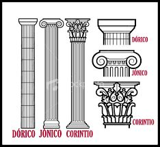Картинки по запросу tipos de columnas dorico jonico y corintio