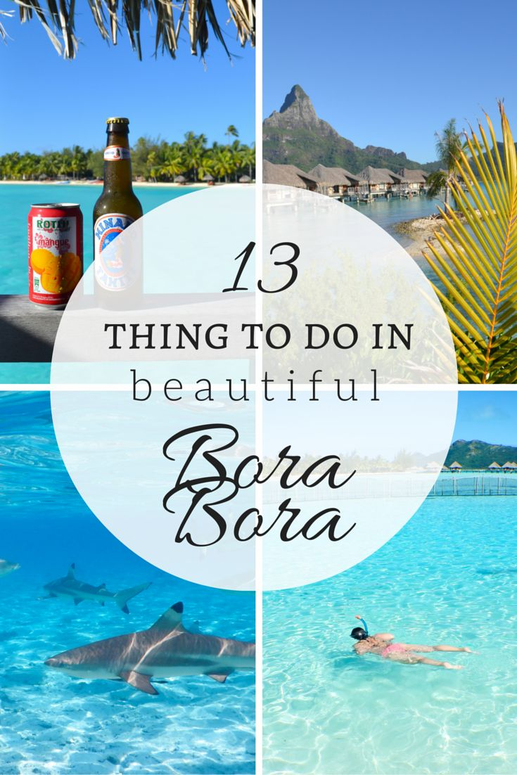 BORA BORA - the ultimate honeymoon! Click on over to find out what to do in Bora Bora, the most spectacular island you'll ever go to! (I promise!)