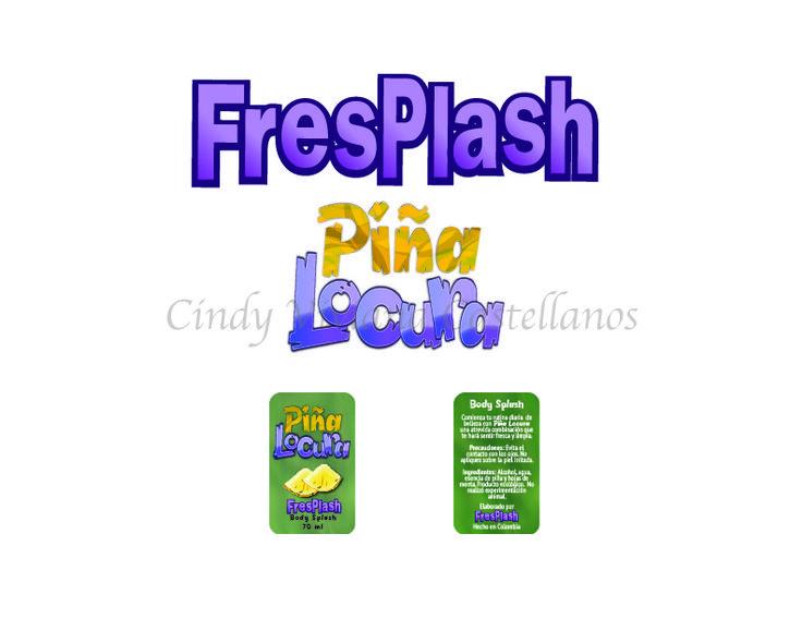 Diseño de branding para splash refrescante con olor a piña - Ilustrator