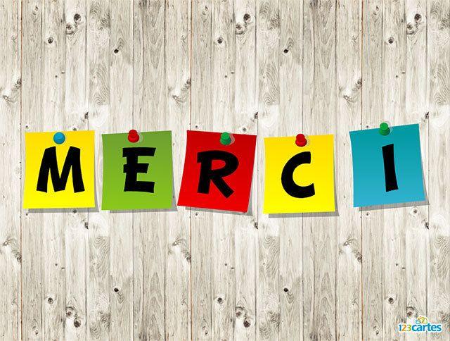 Carte De Remerciement Post It Gratuite A Imprimer Illustration De Post It De Differentes Couleurs Accroches Sur Un Fond D Carte Merci Carte Remerciement Carte