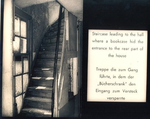 The Stairs Leading Up To The Bookcase That Hides The