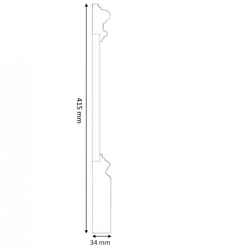 Tredelad hög golvsockel Mäster, 41 cm hög och av norrländsk kvistren furu. Välkommen in till Sekelskifte och våra klassiska golvsocklar!