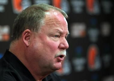 """You don't want to be up there, really. But we were up there so it was very, very important who we chose there. That's why we targeted Trent [Richardson]. We didn't want to lose him."" - Mike Holmgren on the Browns trading up to the No. 3 pick in the draft on Thursday night."