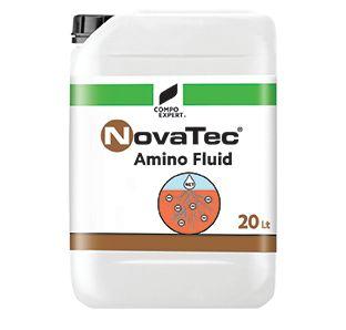 NovaTec AminoFluid  15% ολικό Άζωτο (4% οργανικό, 4% νιτρικό ,3% ουρικό, 4% αμμωνιακό) , 6% ελεύθερα αμινοξέα  Σταθεροποιημένο υγρό λίπασμα αζώτου και αμινοξέων. Ιδανικό για την ανάπτυξη του ριζικού συστήματος και την βελτίωση της απορρόφησης μέσω της οξίνισης της ριζόσφαιρας που επιτυγχάνεται με τη χρήση DMPP.    Διαθέσιμες Συσκευασίες : Δοχείο 20 λίτρων
