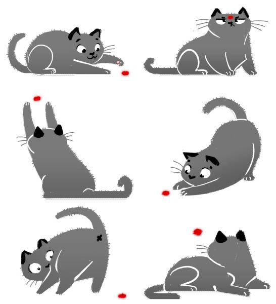 'The Laser Pointer' by Daily Cat Doodles Cat doodle
