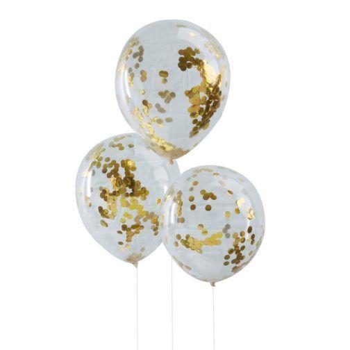 Globos Confeti Oro #goldballoon #confetti