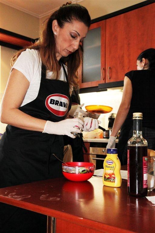 Jenny is making the framboise vinaigrette!