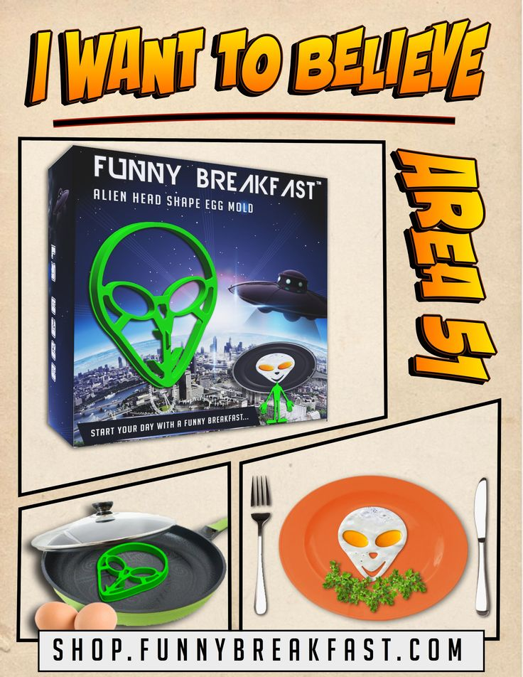 Your kids will LOVE IT!   Area 51 Egg Shaper is designed in a way that it can mold eggs into an alien's smiling head.
