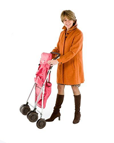 Sholley Deluxe with Orange Bag, the best folding shopping trolley or walker on the market