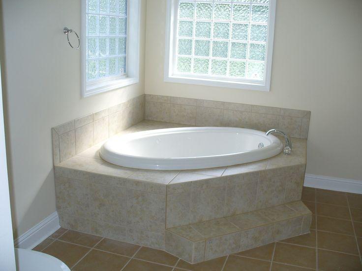 11 best corner tubs images on pinterest bathtubs corner for Corner garden tub