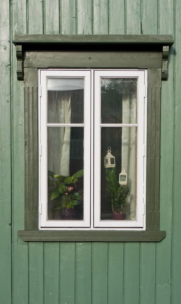 Window in Tromso, Norway