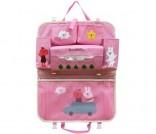 Vrolijke auto-opberg-zak roze