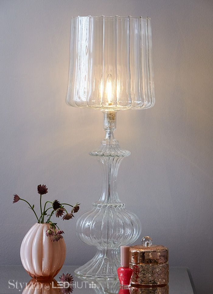 Chic and classic, glass lamps are a perfect way to show off your bulbs! #StyLEDlighting