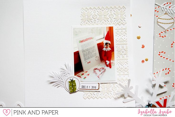 Holiday mini album using the Pinkfresh Studio December Days collection