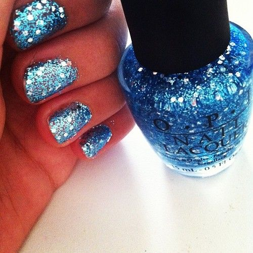 OPI Glitter nail polish  -----------------------  I have this one...just had my nails like this last week. <3 it
