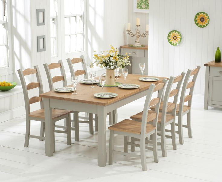 Buy the Somerset 180cm Oak and Grey Extending Dining Table with Somerset Chairs at Oak Furniture Superstore