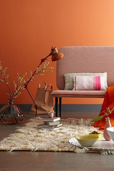 wall colour orange