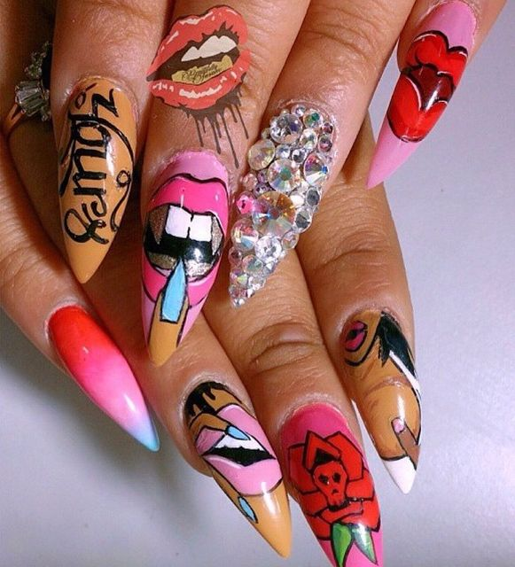 8 Best Fan Nail Art Images On Pinterest Fan Nails Hands And Hollywood