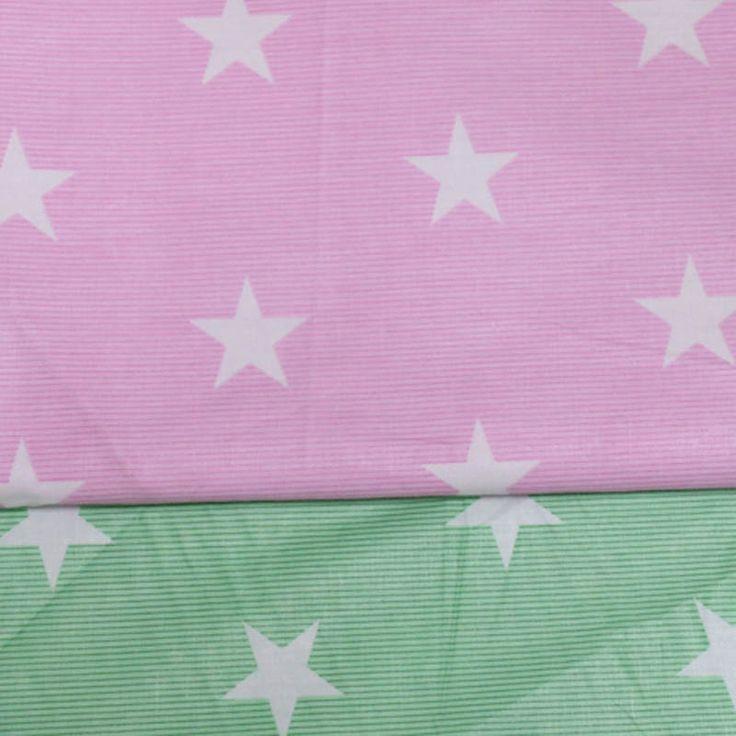 1 м 100% хлопок саржевые розовый зеленой полосой белый звезда ткань DIY дети ручная декор потертый шик лоскутное лоскутное жк телакупить в магазине Ai Guo Trading Co., Ltd.наAliExpress