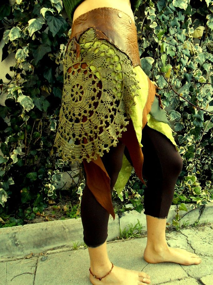 Indiflo Leather Creations one of a kind skirt