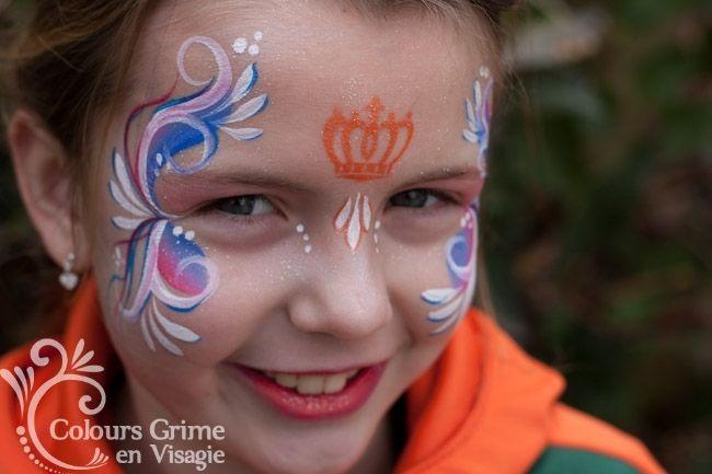Sjabloon Koningsdag - SchminkWebshop Colours Schmink & Glittertattoo's