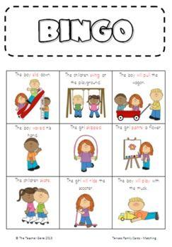 Bingo Cards, Grammar Lesson, Verb Tense, Past Present Future, Presents ...