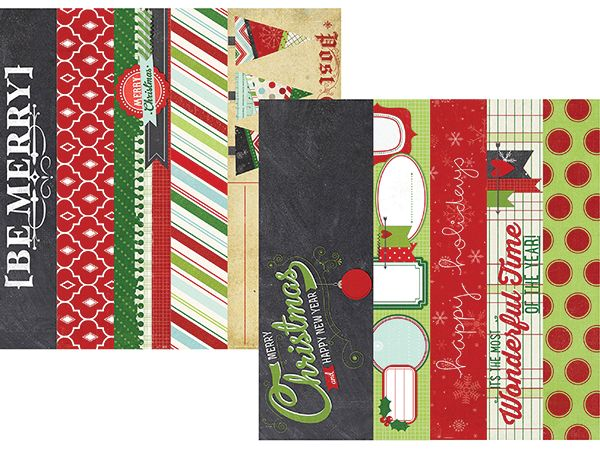 Simple Stories - December Documented Collection - Christmas - 12 x 12 Double Sided Paper - Border and Title Strip Elements at Scrapbook.com