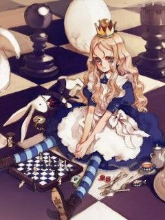 Evil Alice In Wonderland Animes   Download mobile wallpaper Alice in Wonderland, Anime, Girls for free.