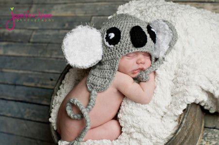 koala crochet hat-free pattern wzór na czapeczkę koala