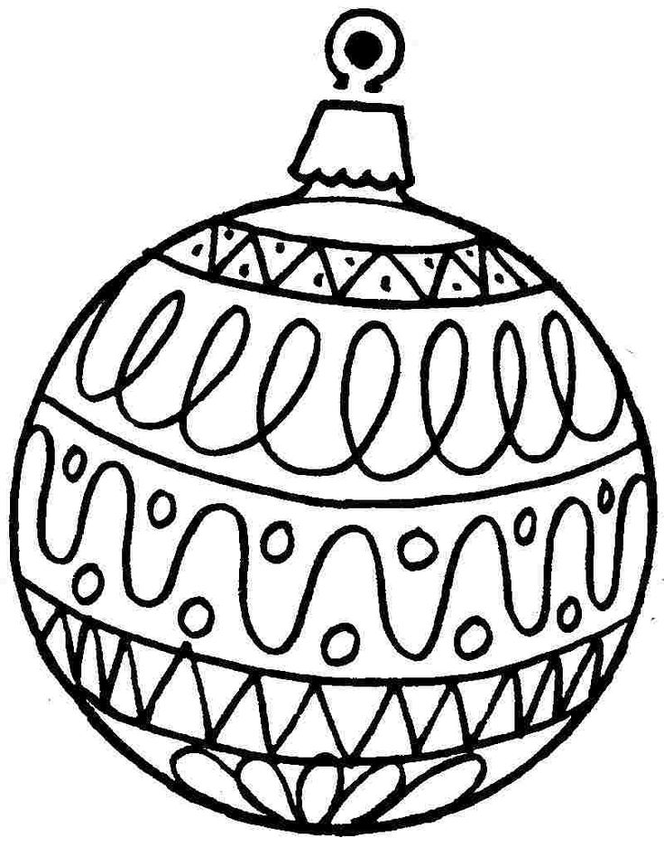 Coloring Christmas Ornaments Printable Free Christmas Ornament - christmas ornament coloring pages print