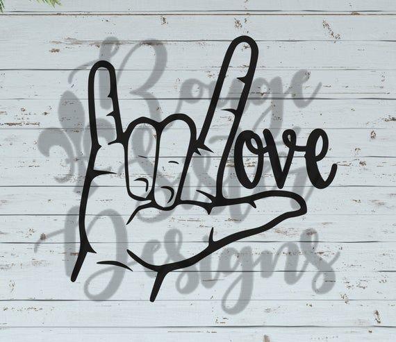 Download ASL Love Sign Language SVG/PNG/Jpeg Design for Silhouette ...
