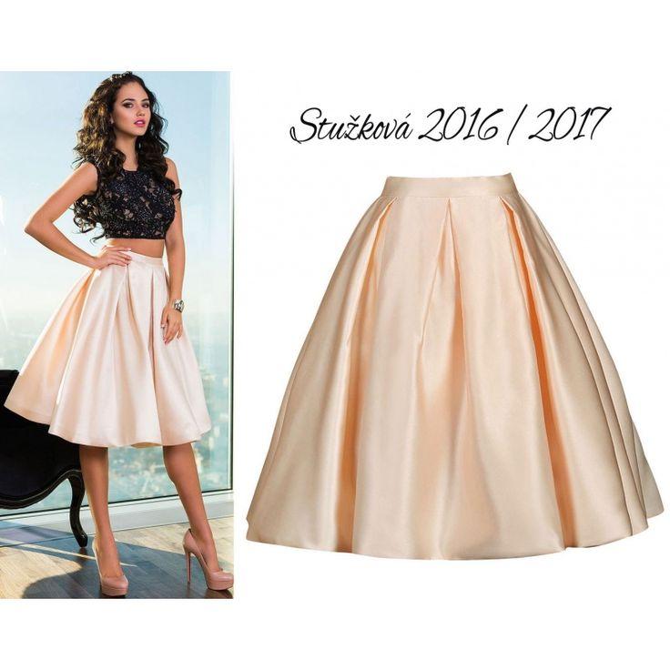 Saténová krátka sukňa